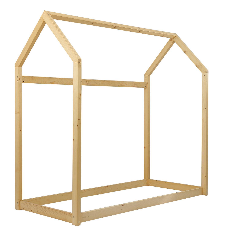 Children House Frame Wood Floor Bed Tent Bedroom