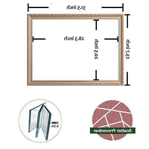 Hans & Alice Deal! Large Rectangular Mirror, Wooden Vanity Mirror,