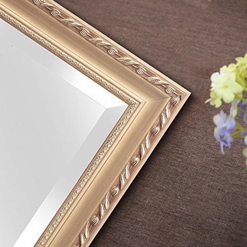 Hans Deal! Rectangular Mirror, Wooden Vanity Mirror, Gold