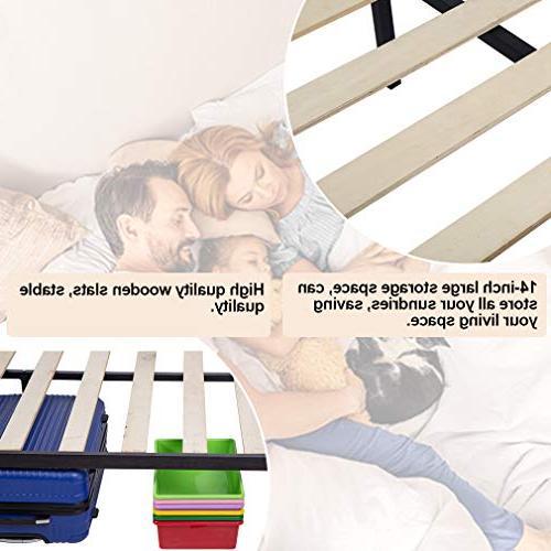 Bed Bed Steel Slat Black Duty