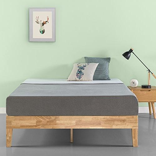 Zinus Moiz Inch Deluxe Bed / No Box Spring Needed Wood Slat Support King