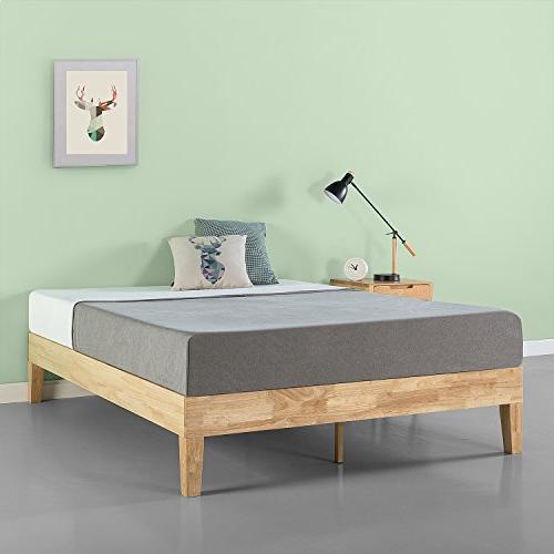 deluxe wood platform bed boxspring