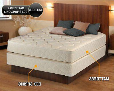 Dream Comfort 2-Sided Queen Gentle Mattress Set w/ Frame