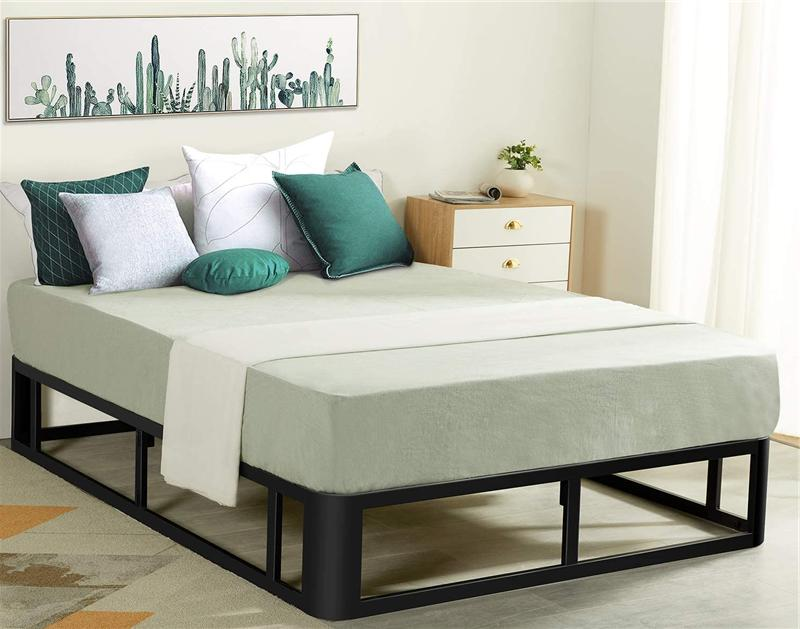 Durable Twin Size Bed Frame Heavy Duty Bed Base Sturdy Steel