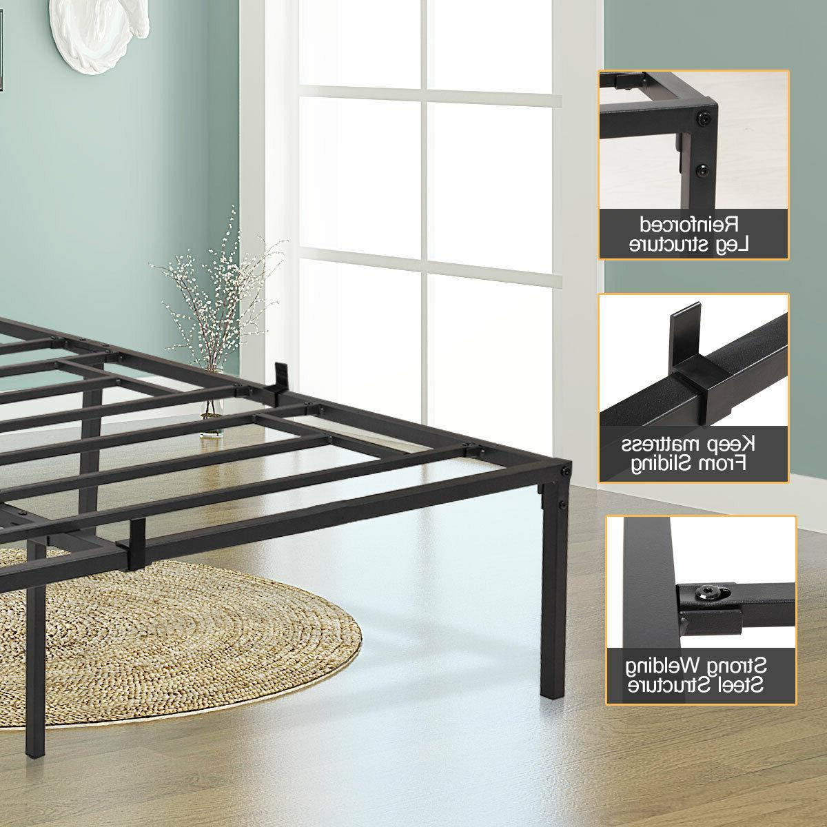 Easy Setup Bed Mattress Foundation wUnder Queen Size