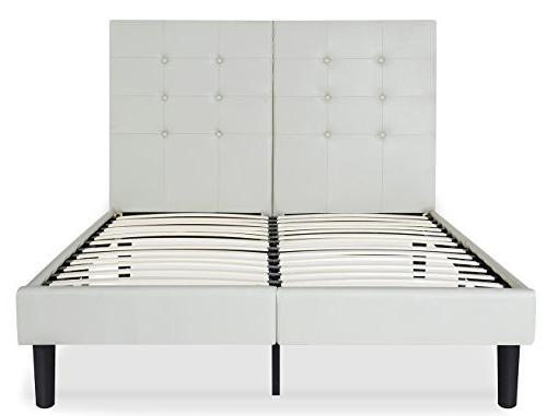 Olee Leather Wood Slate Folding Platform Bed 14PB03Q