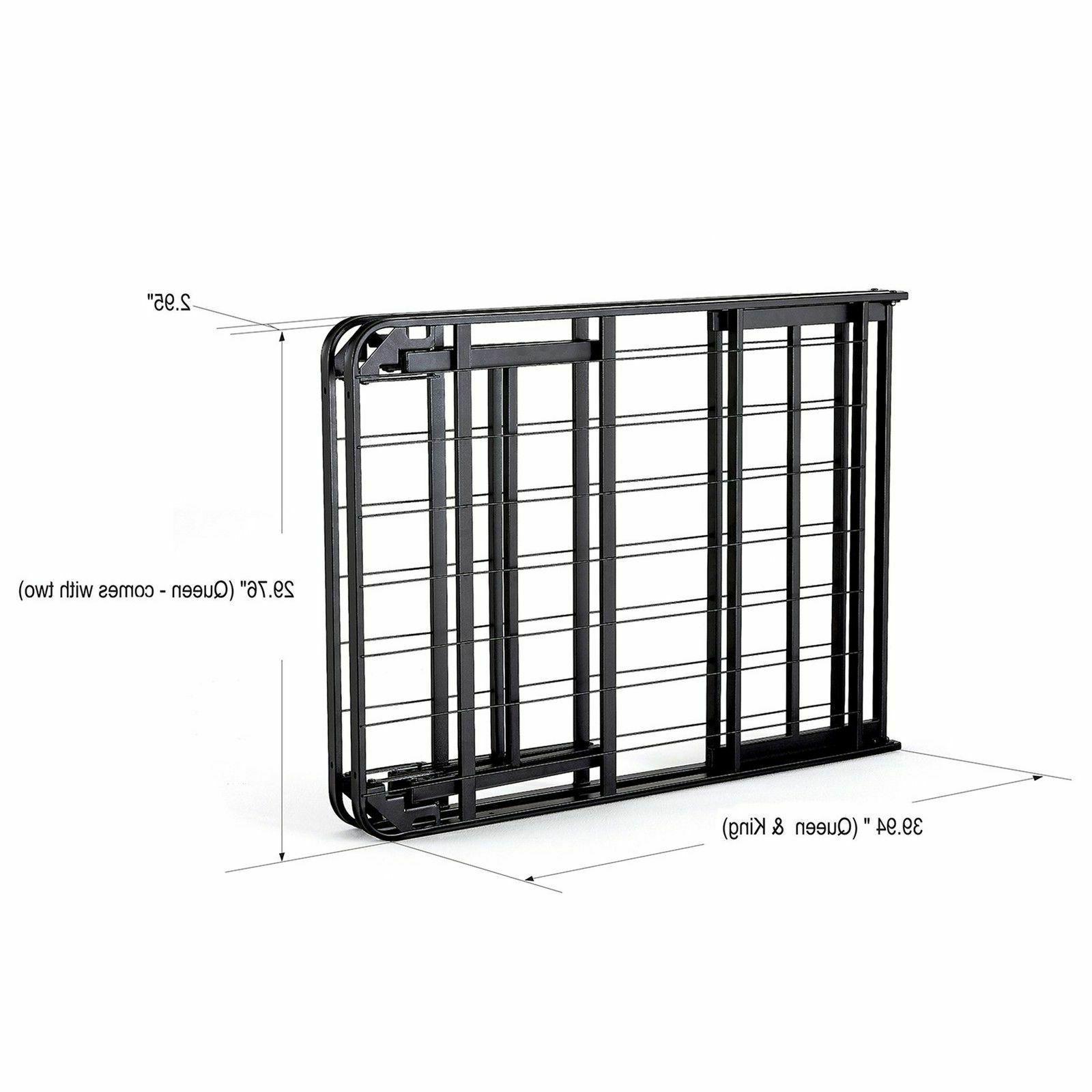 Fold Platform Metal Frame, Queen-intelliBASE Lightweight Set Up