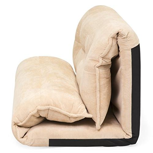 Best Choice Products Floor Sofa w/ Fleece Pillows