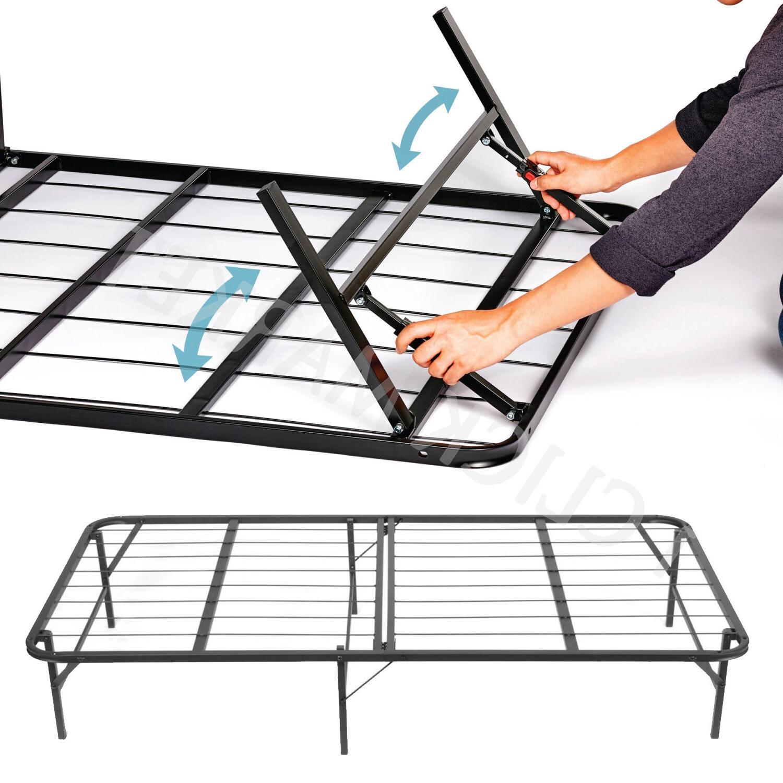 FULL Size Bed Frame Folding Platform Duty Foundation