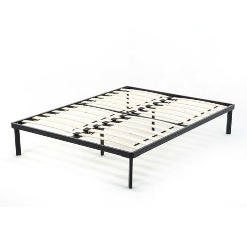 Full/King Platform Bed Frame Slat Mattress