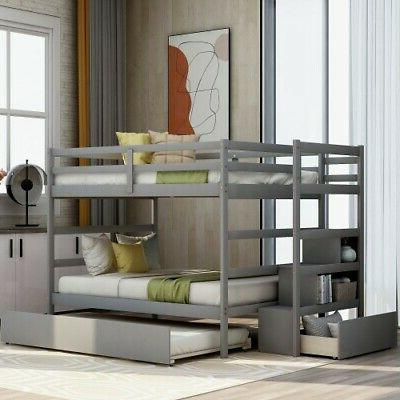 full over full bunk bed wooden