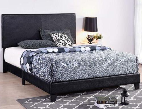 Full/Queen/King Size Bed Frame Leather Upholstered Platform