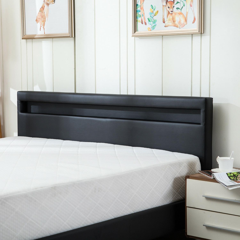 Full/ Queen Size Bed Frame Bedroom Platform LED &