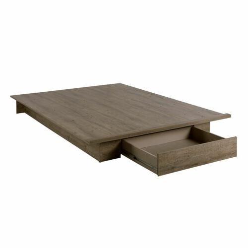 Full Weathered Oak Wooden Platform Under Storage Rustic
