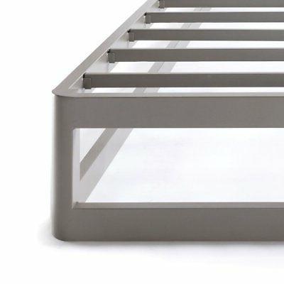 Full 9 Metal Platform Bed Frame, Round Type - Comfort