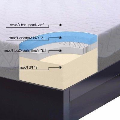 Full size Foam Mattress with Steel Bed Set Crown