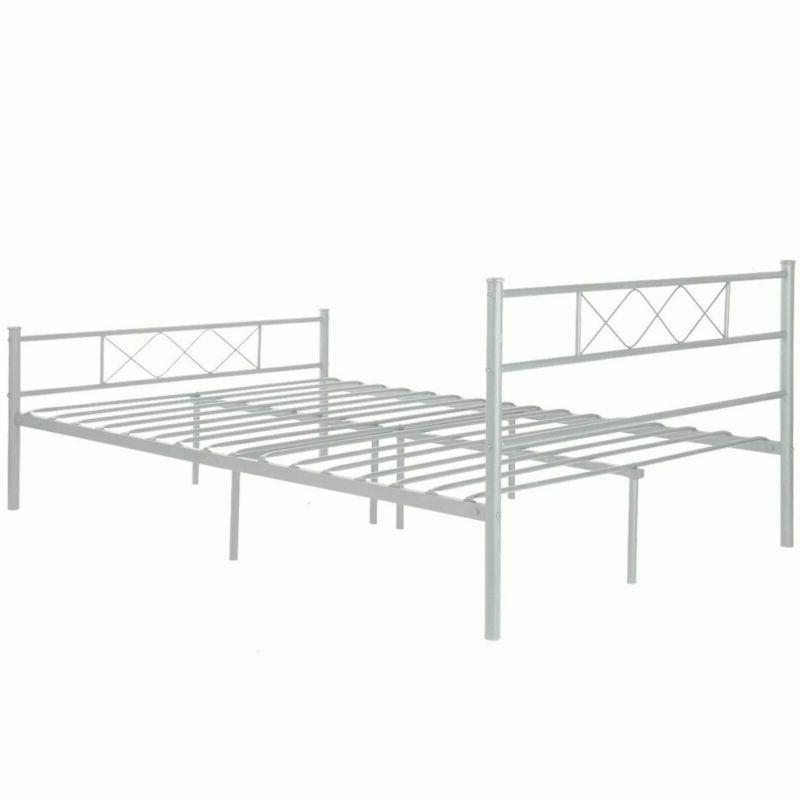 Full Size Metal Frame Bedroom with Headboard