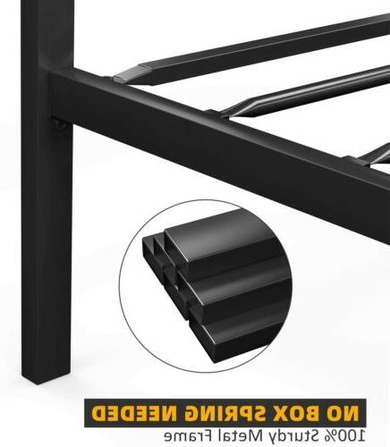 Full Metal Bed Frame Rustic Mattress