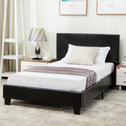 Full Frame Platform Upholstered Headboard Furniture