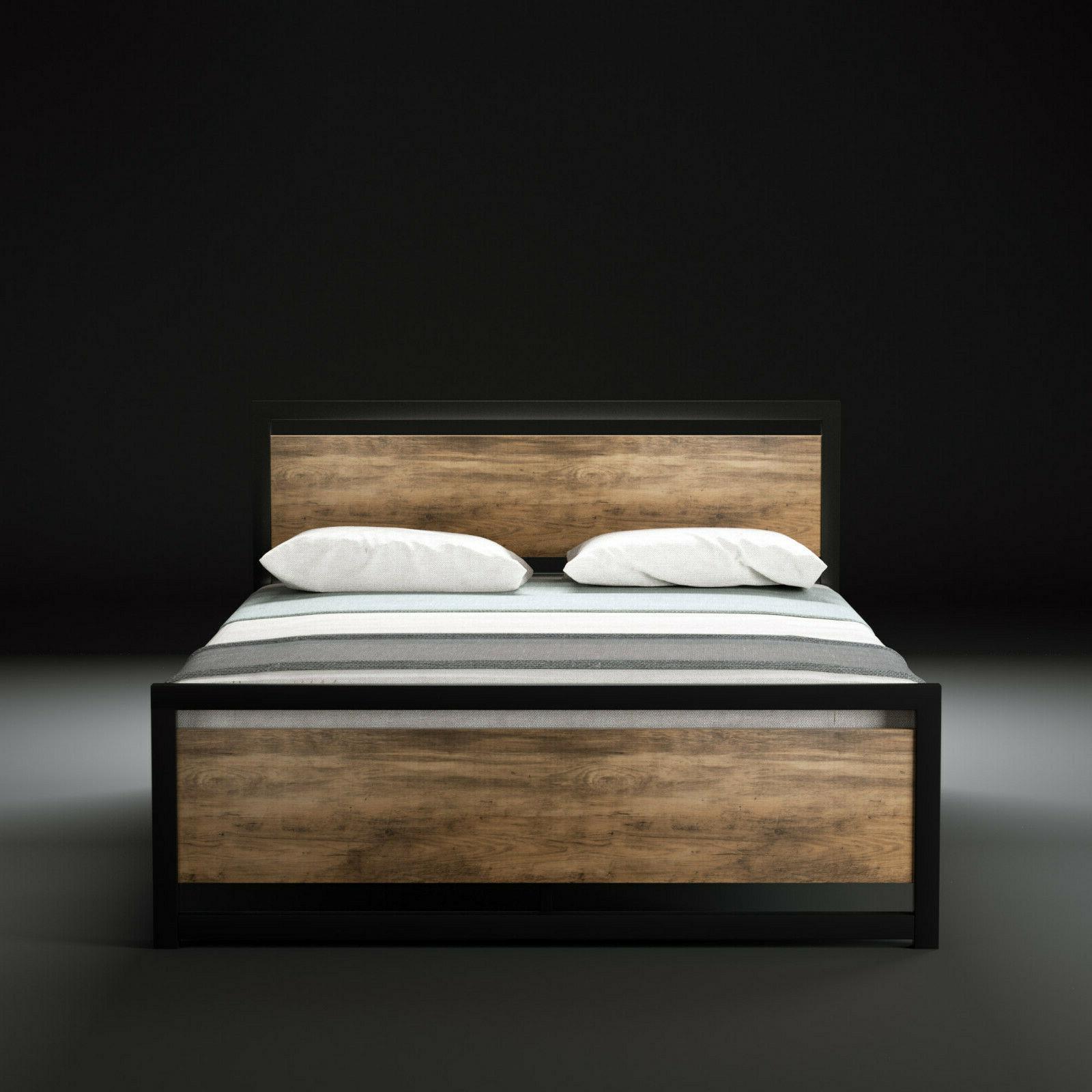 full size platform bed frame mattress foundation