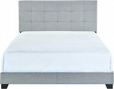 Queen Size Bed Frame Upholstered Headboard Tufted Beds Frame
