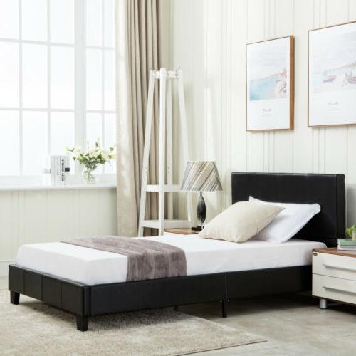 full size platform bed frame wood slats