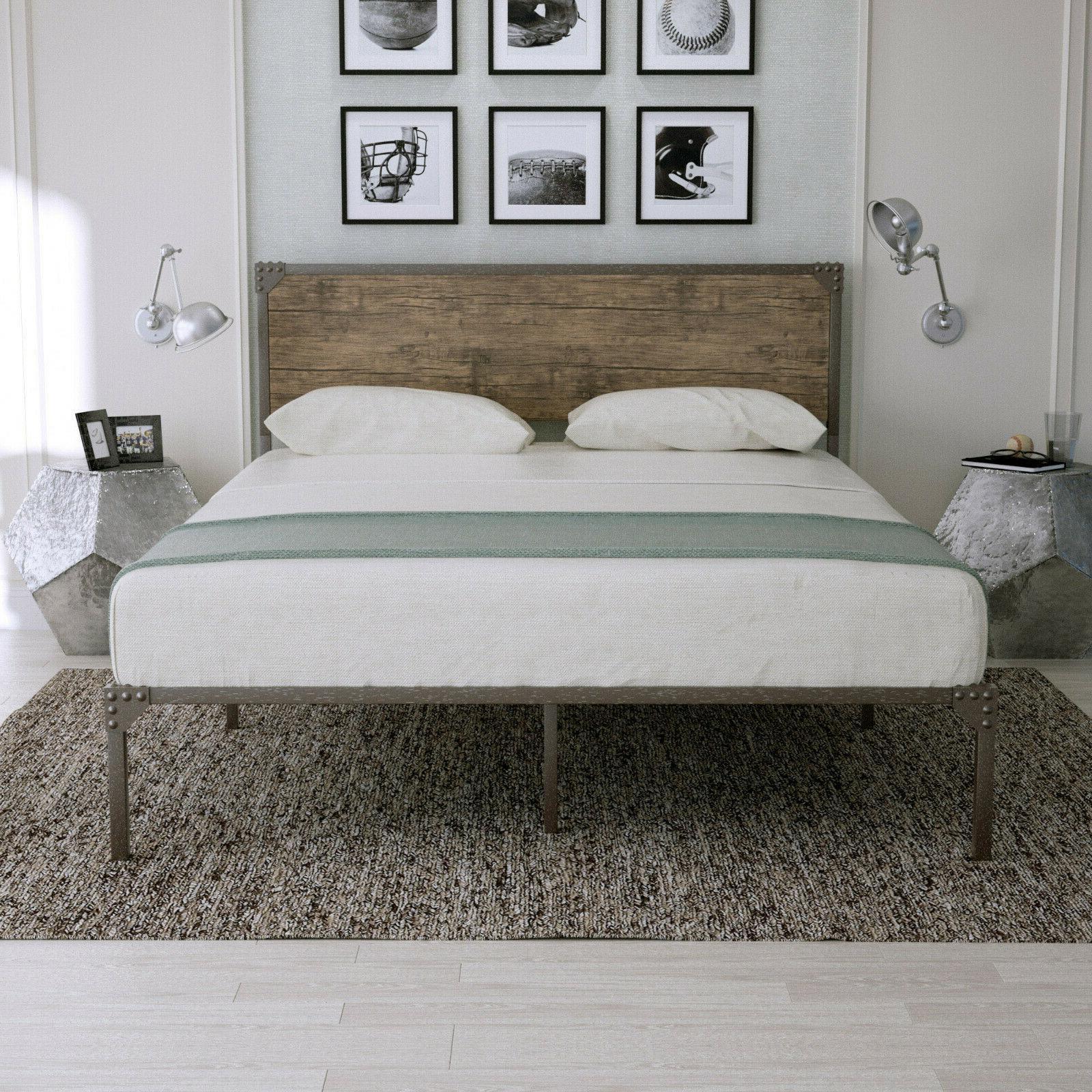 full size platform metal bed frame