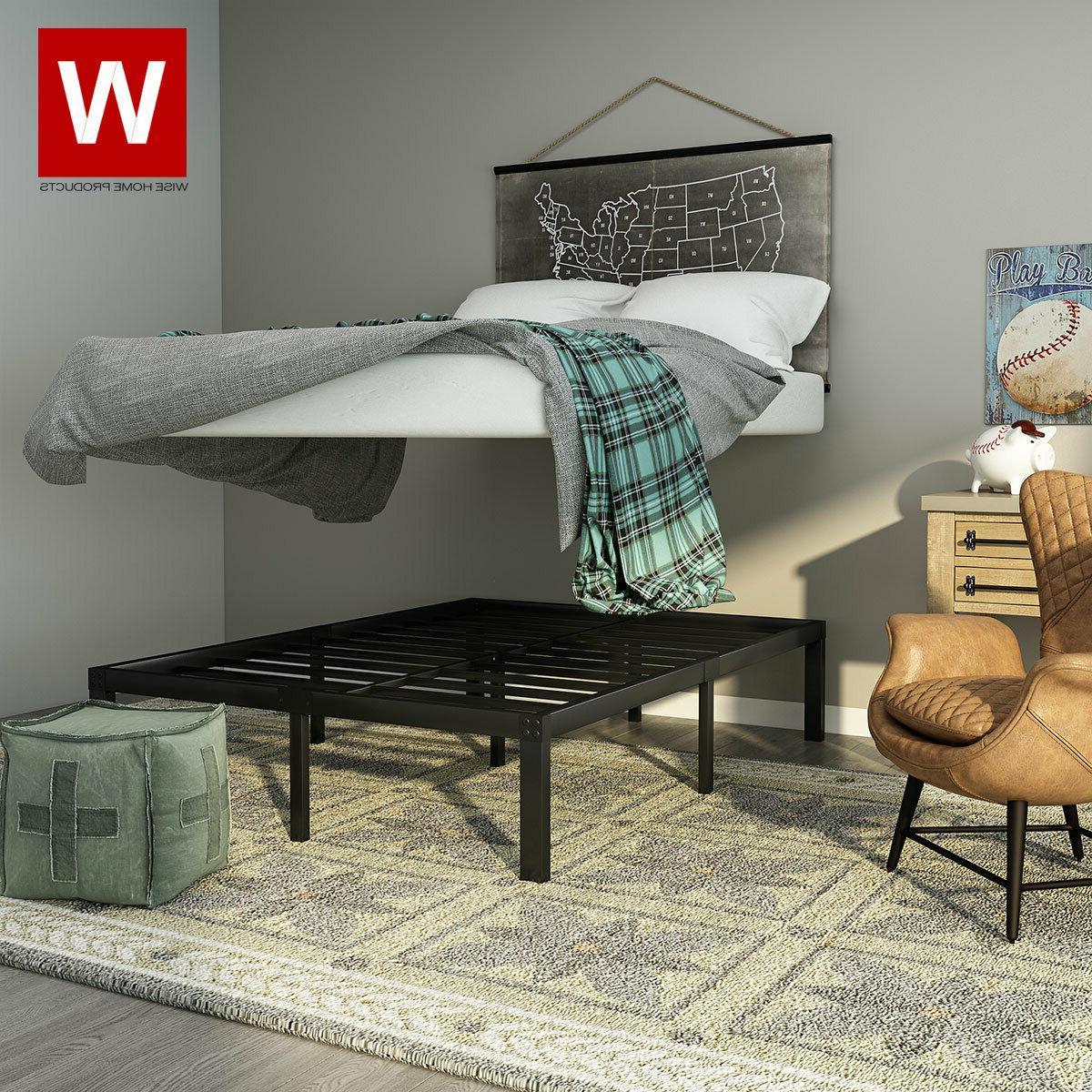 Full Size Steel Bed Frame - Heavy Duty Metal Platform Beds -