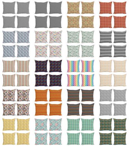 geometric themed cushion cover set of 4