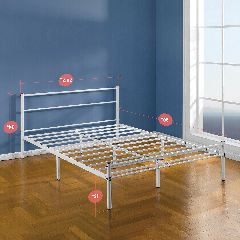 Zinus Geraldine Platform Bed Headboard and Queen