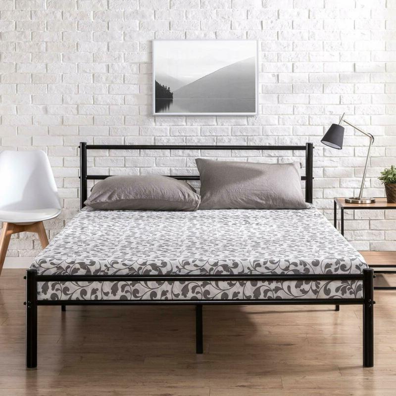 Zinus Geraldine Metal Platform Bed Frame with Headboard and
