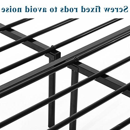 GreenForest Frame and Stable Metal Mattress Boxspring Black