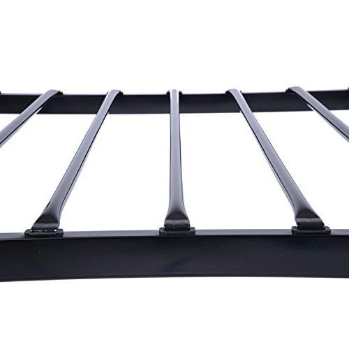 GreenForest Size Frame Stable Metal Slats Replacement Single Base,Black