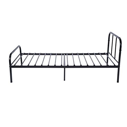 GreenForest Bed Frame with Headboard and Stable Replacement Single Base,Black