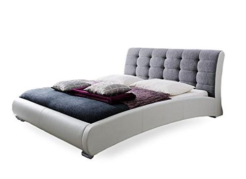 Baxton White Two Tone Tufted Grey