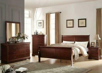Modern Wooden King Bed Headboard & Footboard Furniture