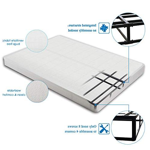 Homdock Duty Inch Innovative Steel Structure Mattress Foundation,Easy Assembly by