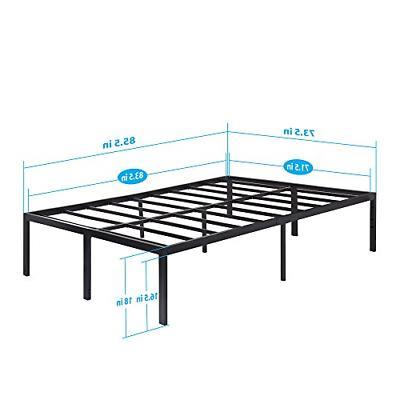 Heavy Duty Metal Bed King Queen Bedroom Inch