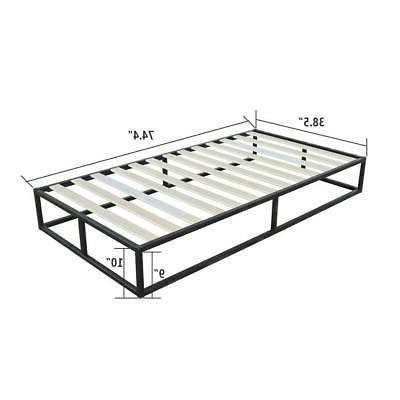 High Quality Simple Iron Size Metal Platform Bed Frame Black NEW