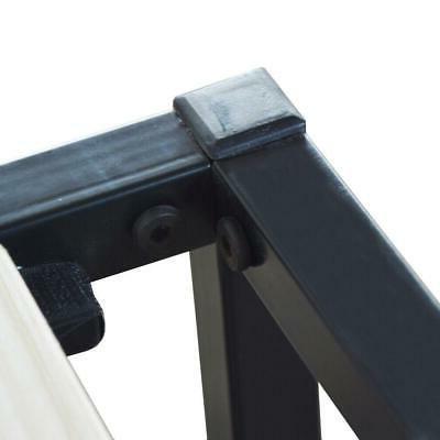 High Iron Bed Metal Platform Black NEW