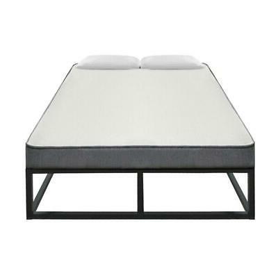 High Basic Iron Metal Bed Frame Black NEW