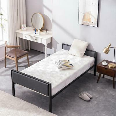 Modern Design Twin Size Daybed Bed Frame Soft Headboard Foot