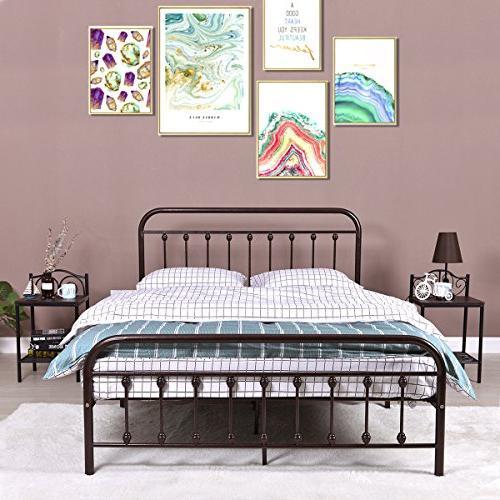 industrial metal platform bed frame