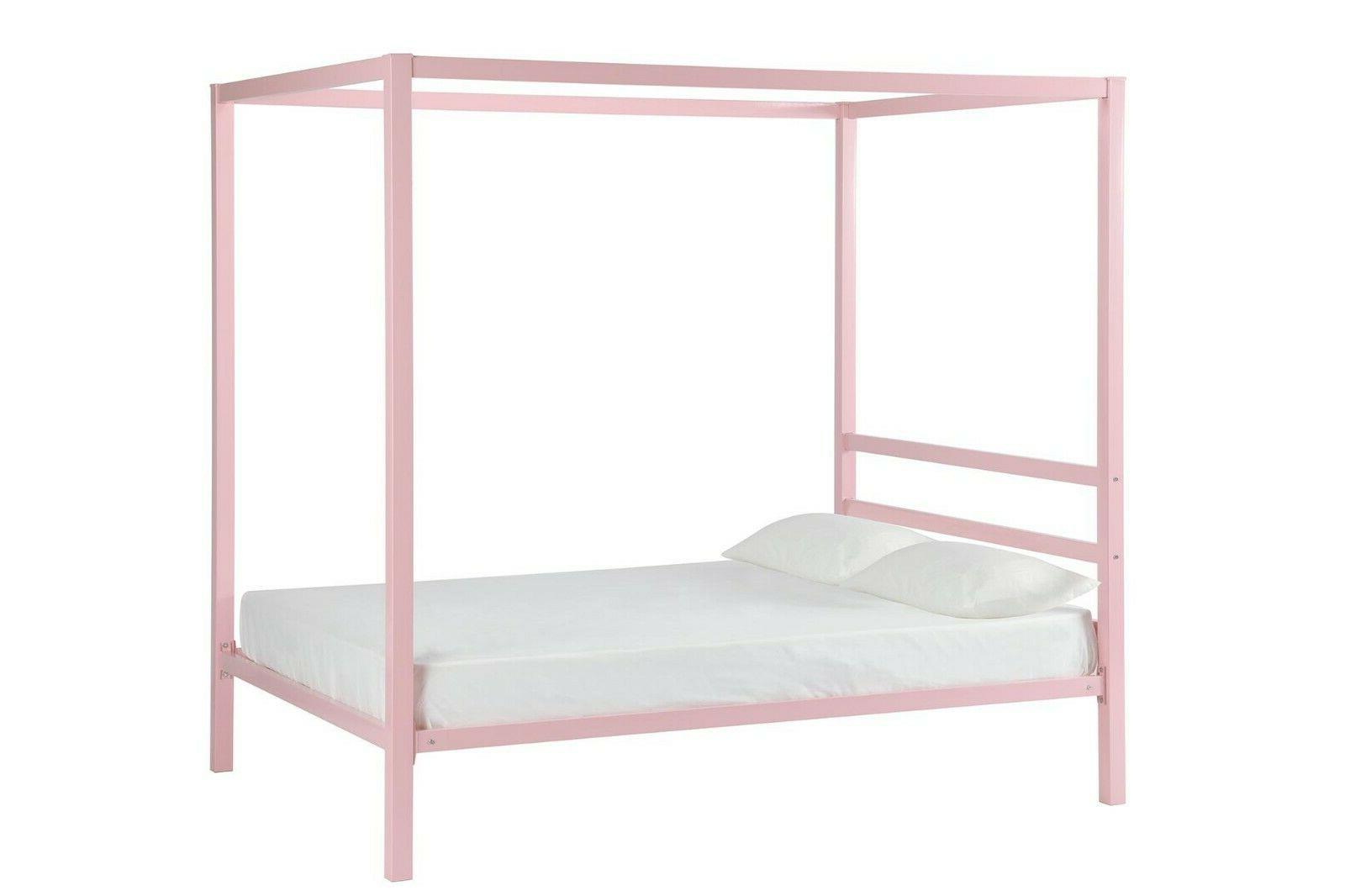 RealRooms Metal Canopy Modern Bed Frame, Colors and