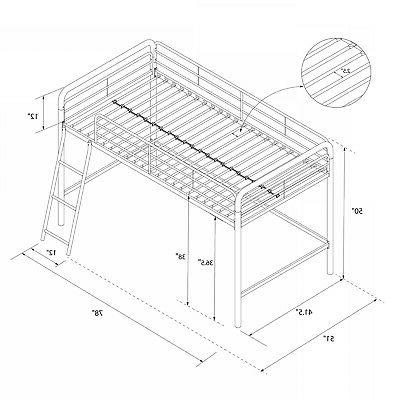 DHP Metal Bed Twin Size Silver