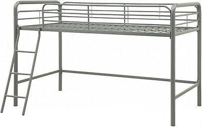 DHP Junior Metal Loft Bed Frame W/ Twin Sturdy Silver New