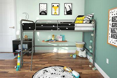 Bed Frame W/ Twin Size Silver New