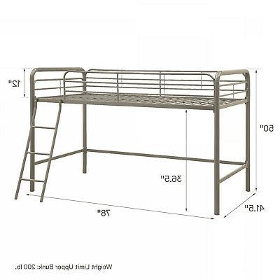 DHP Junior Metal Bed Frame Twin Sturdy Silver New