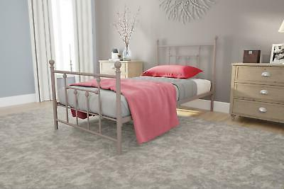 RealRooms Kendale Metal Bed Frame, Multiple Colors, TWIN FUL
