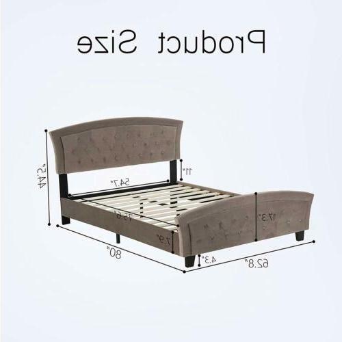 Full Size Platform Metal Furniture w/